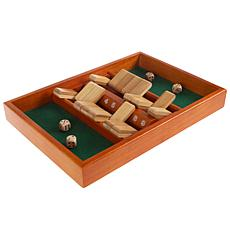 Toy Time Classic Wooden Shut the Box Game Set
