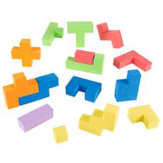 Toy Time Foam Blocks Sensory Building Puzzle Toy
