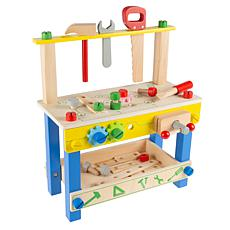 Toy Time Kids Wood Pretend Workbench with Tools