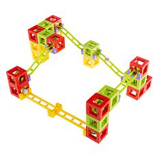 Toy Time Magnetic 3D Block Marble Run Set, 36-Piece