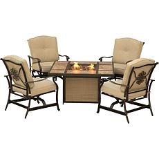 Traditions 5-piece Outdoor Lounge Set with Fire Pit