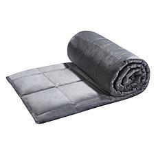 """Tranquil Life Polyester Velvet 20lb Weighted AllSeason Blanket, 60x80"""""""