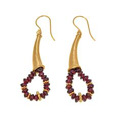 Traveler's Journey Garnet Bead Drop Earrings