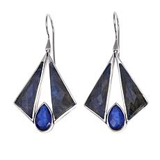 Traveler's Journey Labradorite and Sodalite-Quartz Triplet Earrings