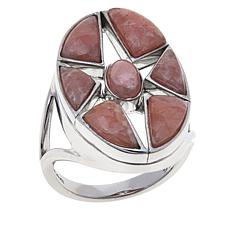 Traveler's Journey Rhodochrosite Star Ring