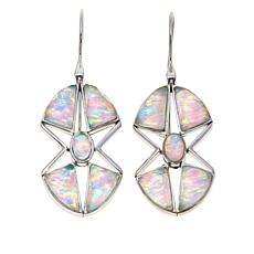 Traveler's Journey Synthetic Opal Doublet Star Earrings