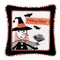 Treat Witch Quilted Pillow