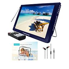 """Trexonic 12"""" Ultra Lightweight Portable LED TV with Antenna & Sleeve"""