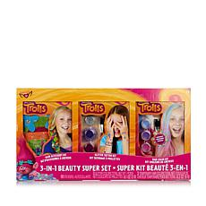 Trolls 3-in-1 Hair and Glitter Tattoo Beauty Super Set