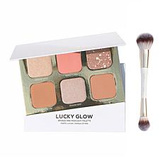 True + Luscious 2-piece Lucky Glow Palette and Brush Set