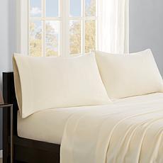 True North by Sleep Philosophy Micro Fleece Sheet Set - Ivory - King