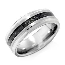 Tungsten and Carbon Fiber 8mm Wedding Band