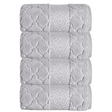 Turner Zero-Twist Turkish Cotton 4-piece Bath Towel Set