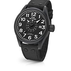 TW Steel Volante Men's Matte Black Bezel Black Nylon Strap Watch