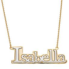 Two-Tone Sterling Silver Name Necklace