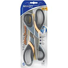 "Ultra Smooth Titanium Straight Scissors 8"" - 2-Pack"