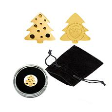 Uncir. LE 15,000 Christmas Tree .999 Gold $1 Palau Coin