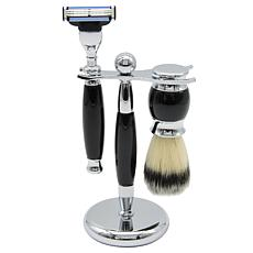 Union Razor Three Piece Shave Kit - Black