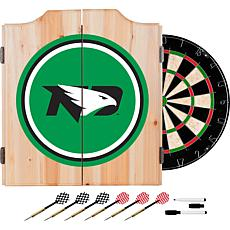 Univ of North Dakota Dart Cabinet with Darts and Board