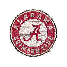 University of Alabama Distressed Logo Cutout Sign