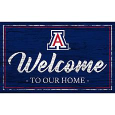 """University of Arizona Team Color Welcome Sign - 11x19"""""""