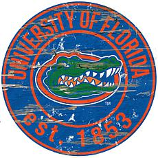 University of Florida Distressed Round Sign