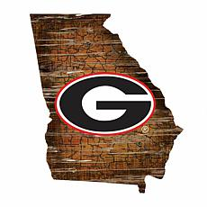 University of Georgia Distressed State with Logo