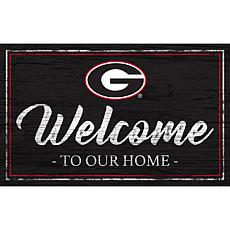 """University of Georgia Team Color Welcome Sign - 11x19"""""""