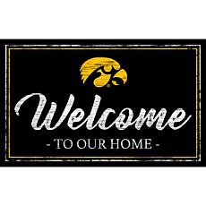 """University of Iowa Team Color Welcome Sign - 11x19"""""""