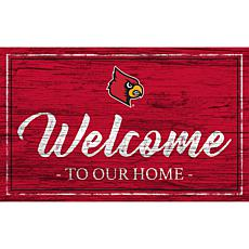 """University of Louisville Team Color Welcome Sign - 11x19"""""""
