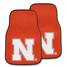 University of Nebraska Carpet Car Mat Set - 2 Pieces