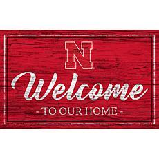 "University of Nebraska Team Color Welcome Sign - 11x19"""