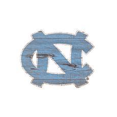 University of North Carolina Distressed Logo Cutout Sign