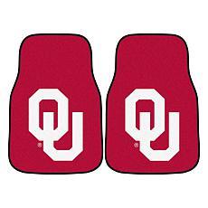 University of Oklahoma Carpet Car Mat Set - 2 Pieces