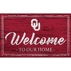"""University of Oklahoma Team Color Welcome Sign - 11x19"""""""