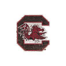 University of South Carolina Distressed Logo Cutout Sign
