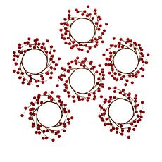 Unmatched Berry Candle Rings - Set of 6