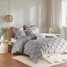 Urban Habitat Talia 7-pc Pintuck Gray Full/Queen Comforter Set