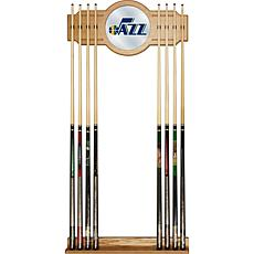 Utah Jazz NBA Billiard Cue Rack with Mirror