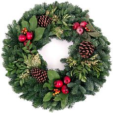 "Van Zyverden Fresh Cut 24"" Pacific Northwest Countryside Wreath"