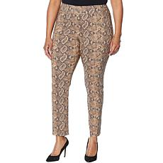 Vanessa Williams Printed Pant with Seam Detail