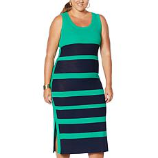 Vanessa Williams Striped Knit Dress