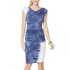 Vanessa Williams Tie Dye Side Ruched Dress