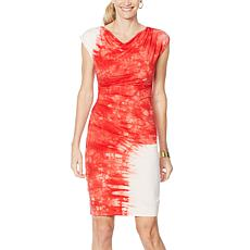 Vanessa Williams Tie Dye Side Ruched Dress