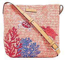 Vera Bradley Straw-Design Crossbody Bag