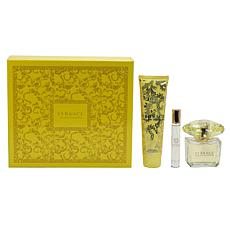 Versace Yellow Diamond Set 3oz Spray, 5oz Body Lotion, .34oz Mini