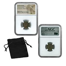 VF NGC Emperor Constantine I Roman Empire Bronze Coin