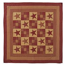 VHC Brands Ninepatch Star Quilt - Luxury King