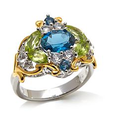Victoria Wieck 2.6ctw London Blue Topaz & Peridot Ring