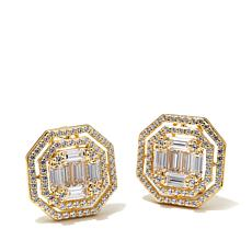 Victoria Wieck 3.6ctw Absolute™ Double Frame Earrings